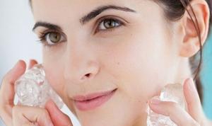Кубики льда для жирной кожи лица